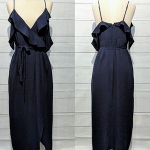 Bardot Navy Off Shoulder Midi Dress 10/L